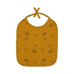 Anna Printed Bib Fawn Brown Sugar