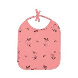Anna Printed Bib Fawn Flamingo Pink