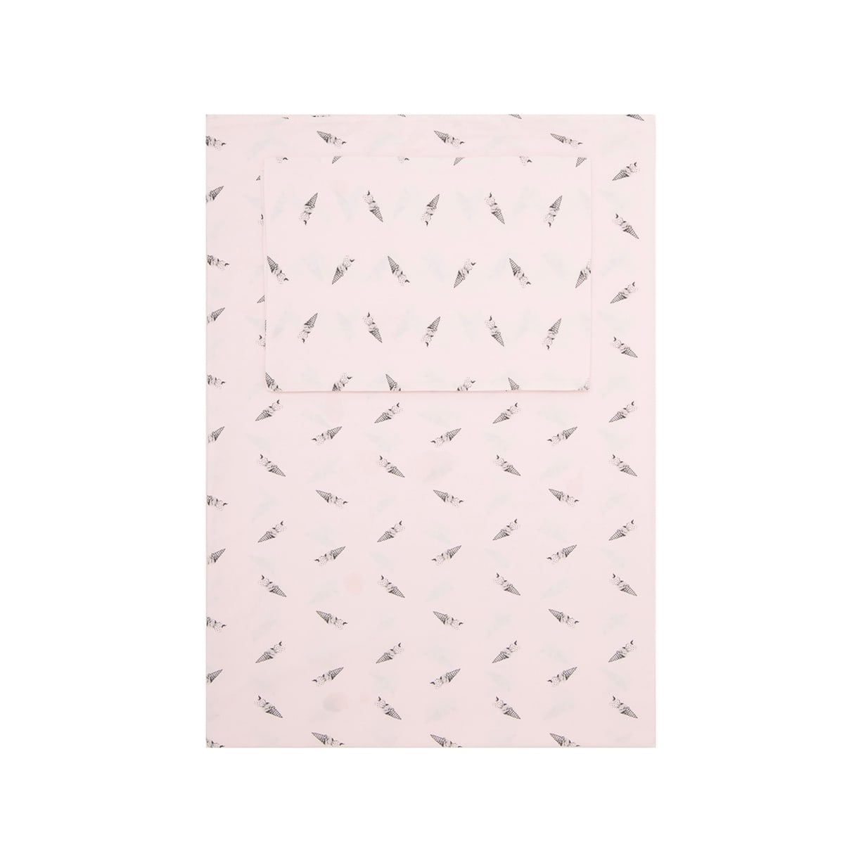Plume ice-cream bedding set