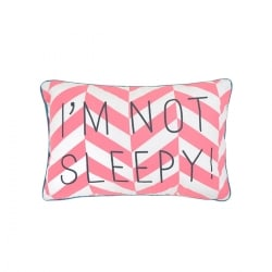 Coussin Message I'm not sleepy !