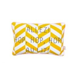 Coussin Message Allez ! Hop, Hop, Hop ! Au lit !