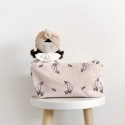 Vic Wash Bag Fawn print Ecru