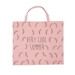 Cabas imprimé Max Flamingo Pink
