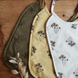 Anna Printed Bib Cat Ecru