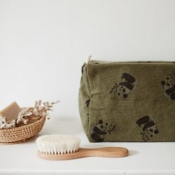 Vic Wash Bag Panda print Kaki