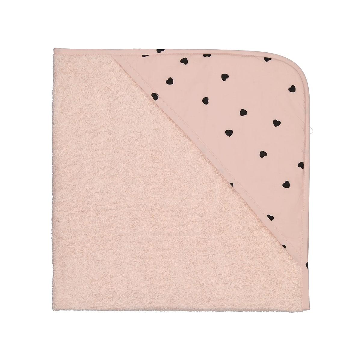 Cape de bain Colette Cœur light pink