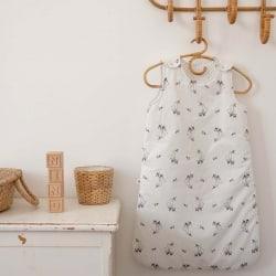 Sarah sleeping bag fawn print Ecru