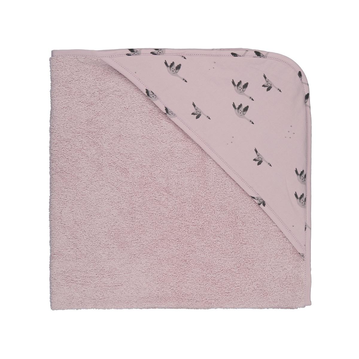 Cape de bain Colette imprimé oie lilas