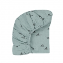 Fitted sheet Olivia Goose blue spray