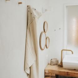 Cape de bain Colette imprimé oie naturel